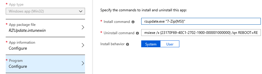 Deploy RuckZuck Packages as Intune Win32Apps